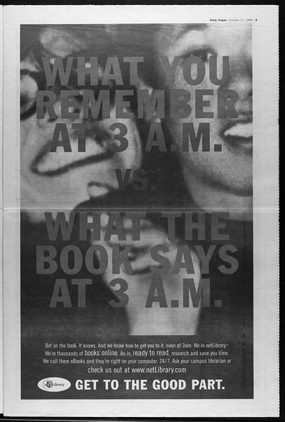 Daily Trojan, Vol. 138, No. 41, October 27, 1999