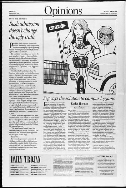 Daily Trojan, Vol. 159, No. 13, September 08, 2006