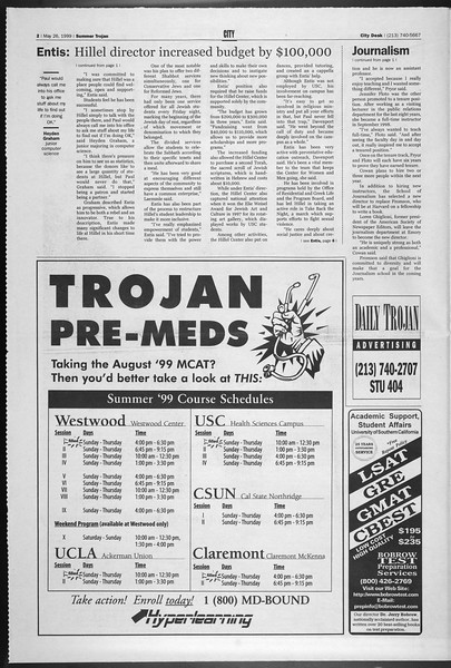 Summer Trojan, Vol. 137, No. 2, May 26, 1999