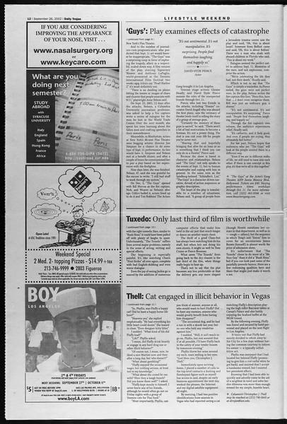 Daily Trojan, Vol. 147, No. 22, September 26, 2002