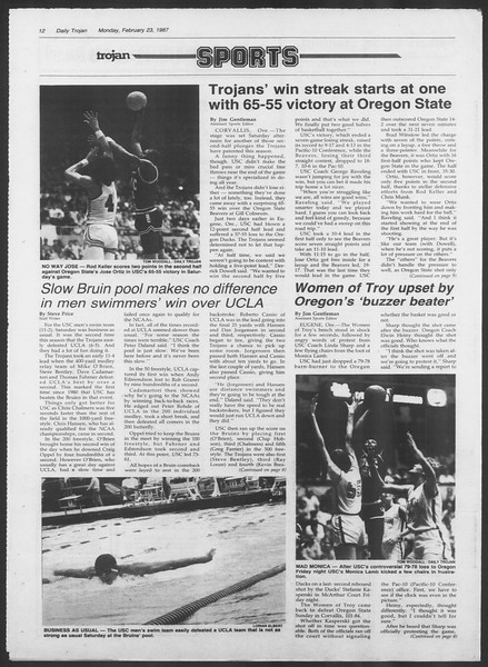 Daily Trojan, Vol. 103, No. 28, February 23, 1987