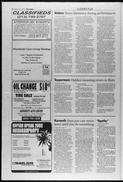 Daily Trojan, Vol. 147, No. 66, December 04, 2002