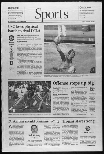 Daily Trojan, Vol. 147, No. 15, September 17, 2002