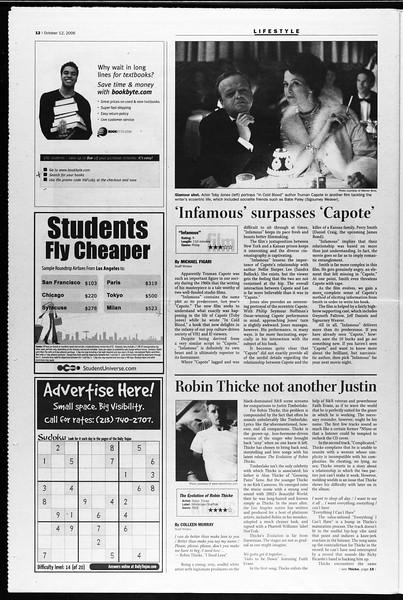 Daily Trojan, Vol. 159, No. 37, October 12, 2006