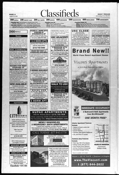 Daily Trojan, Vol. 159, No. 6, August 28, 2006