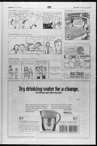 Daily Trojan, Vol. 138, No. 56, November 18, 1999