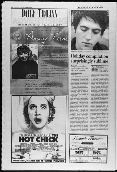 Daily Trojan, Vol. 147, No. 67, December 05, 2002
