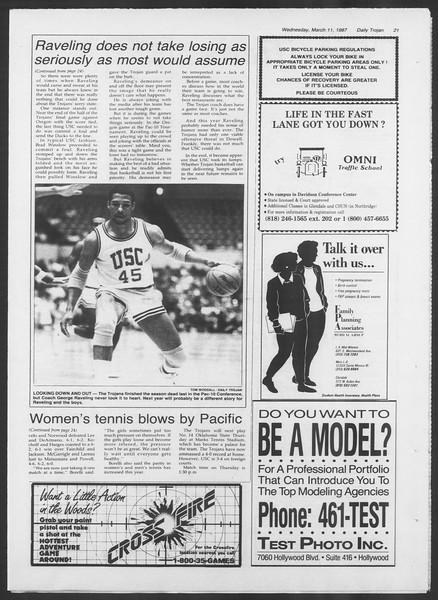 Daily Trojan, Vol. 103, No. 40, March 11, 1987
