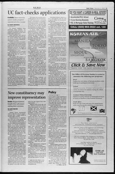 Daily Trojan, Vol. 147, No. 66, December 04, 2002