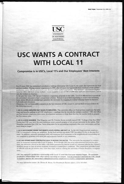 Daily Trojan, Vol. 138, No. 12, September 16, 1999