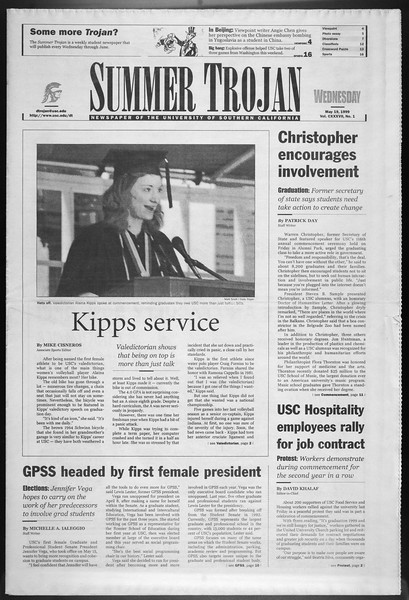 Summer Trojan, Vol. 137, No. 1, May 19, 1999
