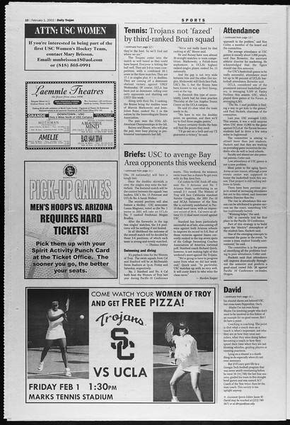 Daily Trojan, Vol. 145, No. 17, February 01, 2002
