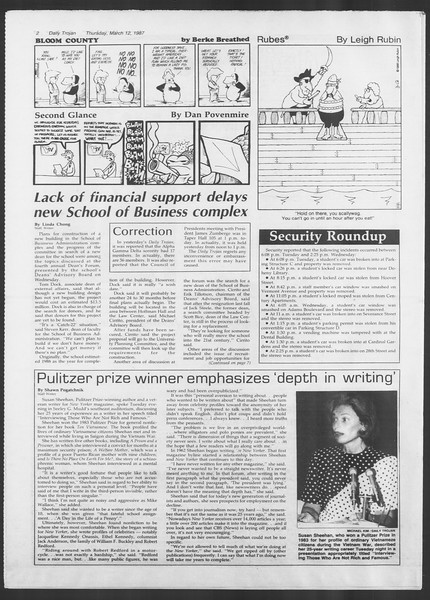 Daily Trojan, Vol. 103, No. 41, March 12, 1987