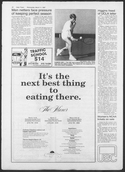 Daily Trojan, Vol. 103, No. 40, March 11, 1987