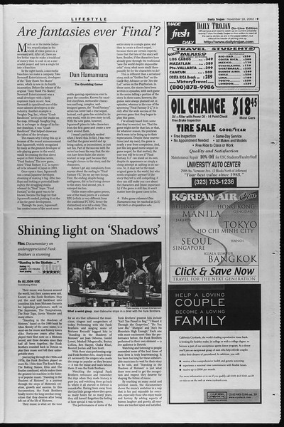 Daily Trojan, Vol. 147, No. 58, November 18, 2002
