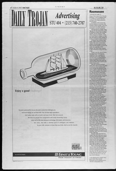 Daily Trojan, Vol. 147, No. 31, October 09, 2002