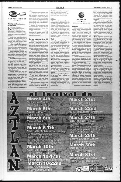 Daily Trojan, Vol. 145, No. 36, March 04, 2002