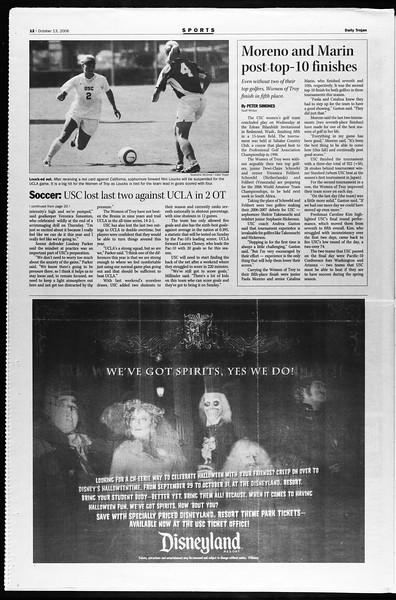 Daily Trojan, Vol. 159, No. 38, October 13, 2006