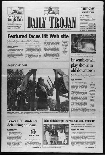 Daily Trojan, Vol. 147, No. 17, September 19, 2002