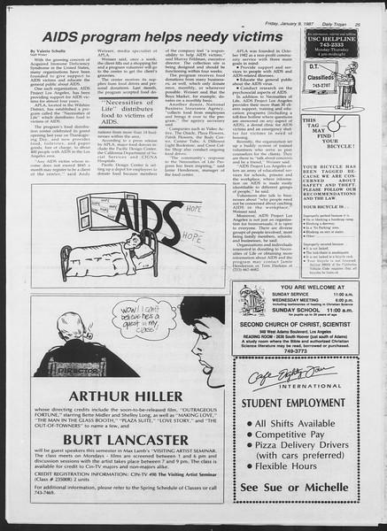 Daily Trojan, Vol. 103, No. 1, January 09, 1987