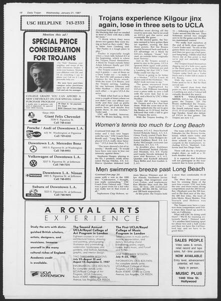 Daily Trojan, Vol. 103, No. 7, January 21, 1987