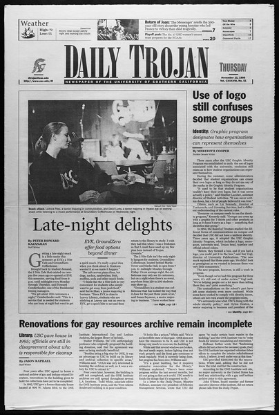 Daily Trojan, Vol. 138, No. 51, November 11, 1999