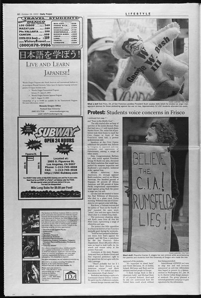 Daily Trojan, Vol. 147, No. 44, October 28, 2002