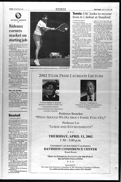 Daily Trojan, Vol. 145, No. 57, April 11, 2002