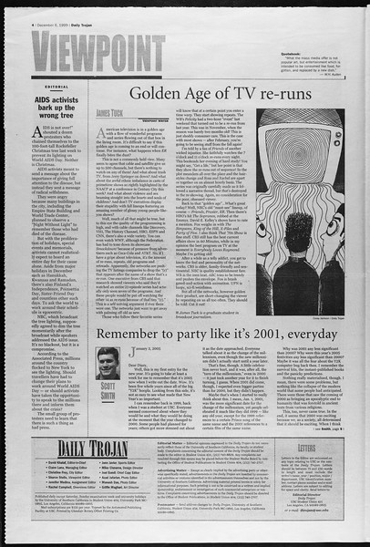 Daily Trojan, Vol. 138, No. 64, December 06, 1999