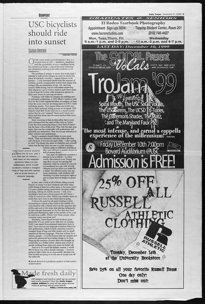 Daily Trojan, Vol. 138, No. 67, December 09, 1999