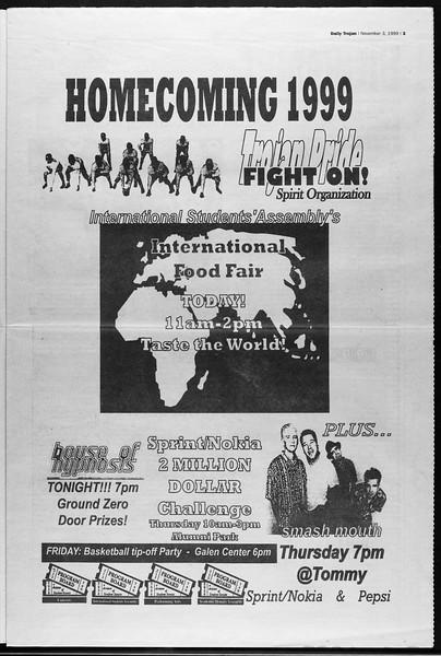 Daily Trojan, Vol. 138, No. 45, November 03, 1999
