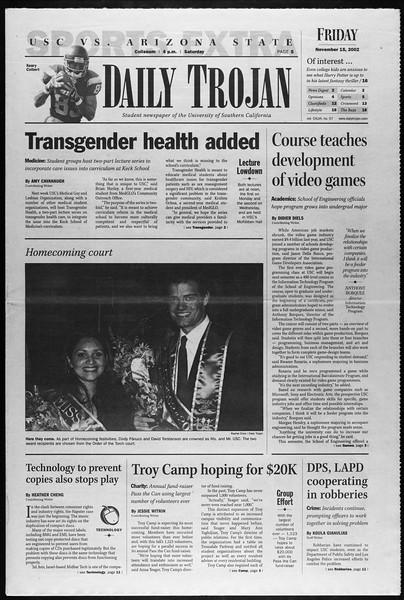 Daily Trojan, Vol. 147, No. 57, November 15, 2002