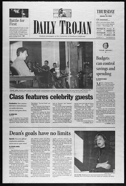 Daily Trojan, Vol. 145, No. 3, January 10, 2002