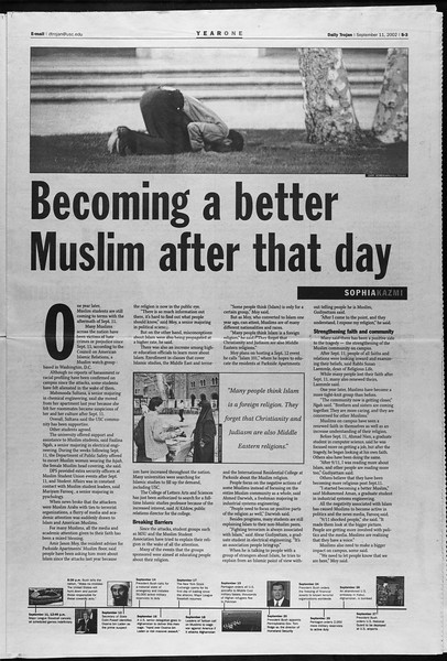 Daily Trojan, Vol. 147, No. 11, September 11, 2002