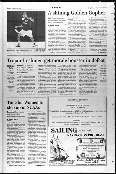 Daily Trojan, Vol. 145, No. 42, March 21, 2002
