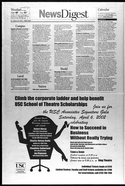 Daily Trojan, Vol. 145, No. 47, March 28, 2002