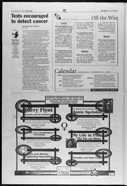 Daily Trojan, Vol. 138, No. 50, November 10, 1999