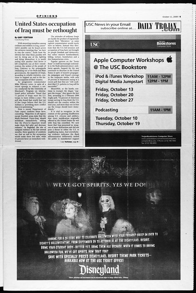 Daily Trojan, Vol. 159, No. 36, October 11, 2006