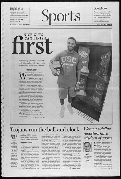 Daily Trojan, Vol. 147, No. 35, October 15, 2002
