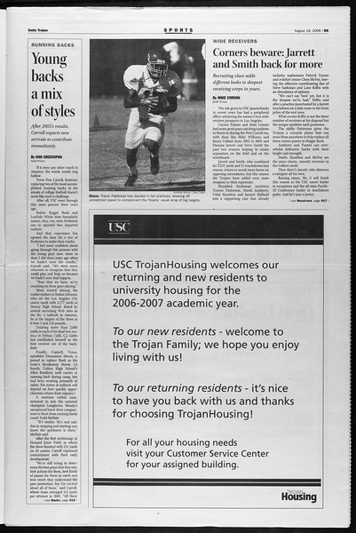 Daily Trojan, Vol. 159, No. 1, August 16, 2006
