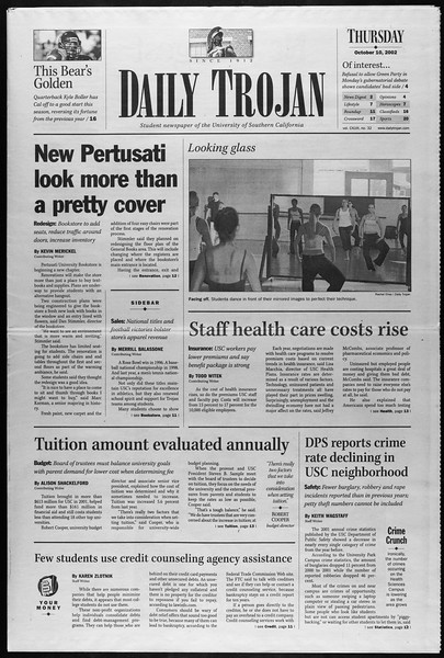 Daily Trojan, Vol. 147, No. 32, October 10, 2002
