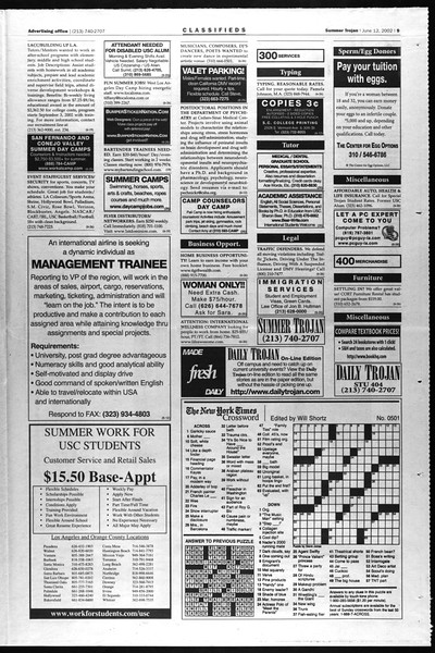 Summer Trojan, Vol. 146, No. 5, June 12, 2002