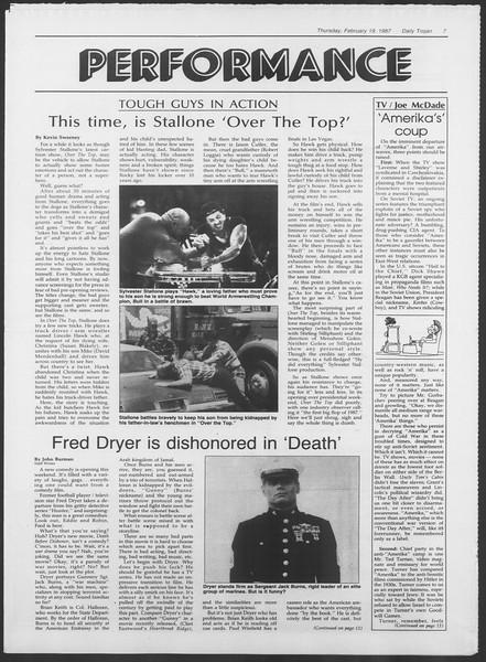Daily Trojan, Vol. 103, No. 26, February 19, 1987