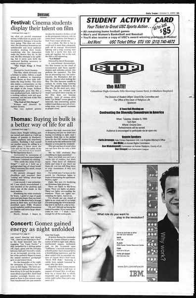 Daily Trojan, Vol. 138, No. 25, October 05, 1999