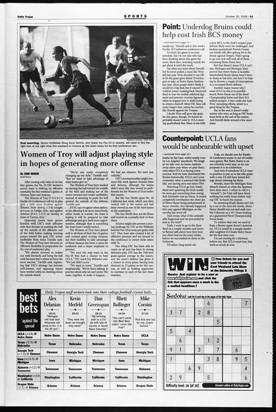 Daily Trojan, Vol. 159, No. 43, October 20, 2006