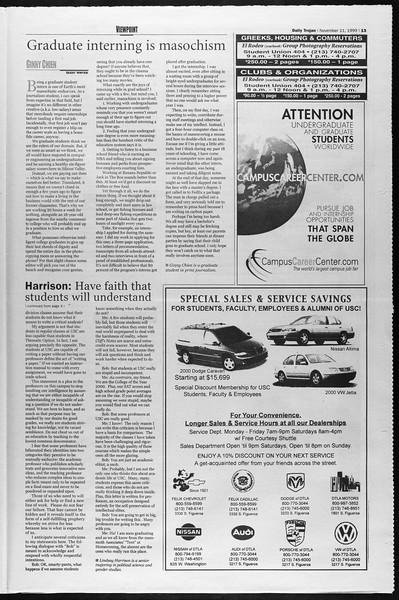 Daily Trojan, Vol. 138, No. 51, November 11, 1999