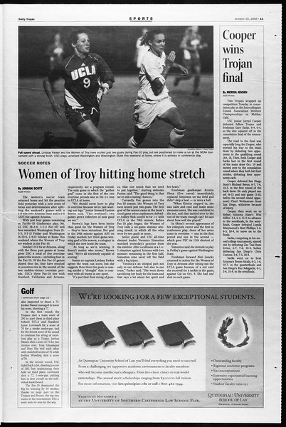 Daily Trojan, Vol. 159, No. 46, October 25, 2006