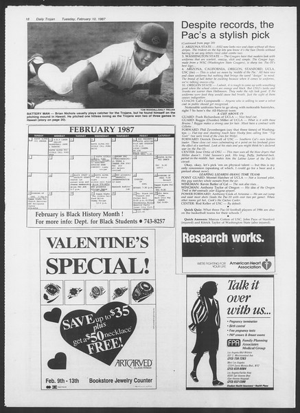 Daily Trojan, Vol. 103, No. 21, February 10, 1987