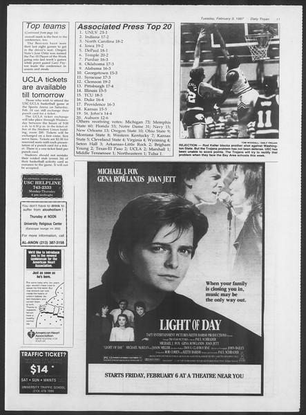Daily Trojan, Vol. 103, No. 16, February 03, 1987