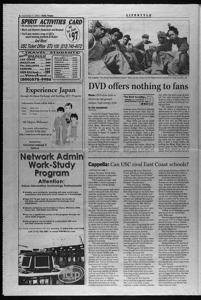 Daily Trojan, Vol. 147, No. 49, November 04, 2002